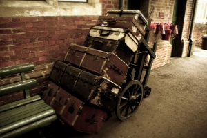 old luggage cart